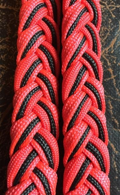 Martha Josey Super Knot Barrel Racing Rein Red/Black