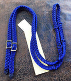 Martha Josey Super Knot Barrel Racing Rein Royal Blue/Black