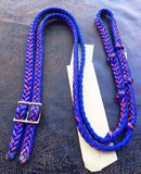Martha Josey Super Knot Barrel Racing Rein Royal Blue/Orange