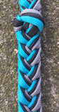 Martha Josey Super Knot Barrel Racing Rein Turquoise/Black/Silver