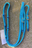 Martha Josey Super Knot Barrel Racing Rein Turquoise/Royal Blue