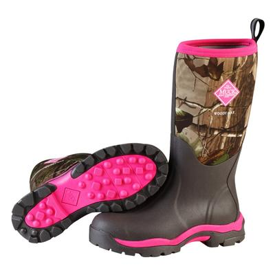 Womens Woody PK Muck Boots Pink/Real Tree