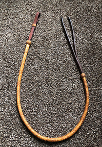 Harness Leather Over & Under with Braided Rawhide