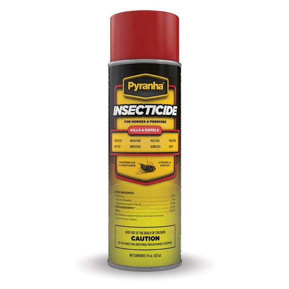 Pyranha Insecticide Aerosol Fly Spray Citronella 15 oz