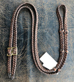 Martha Josey Super Knot Barrel Reins Brown Rust