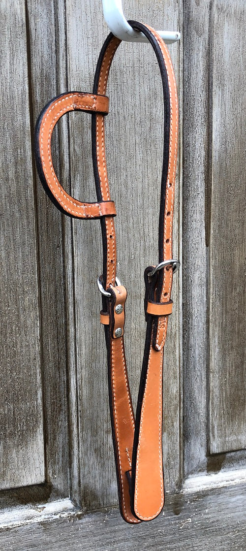 Schutz Brothers Light Oil Doubled and Stitched Single Ear Headstall