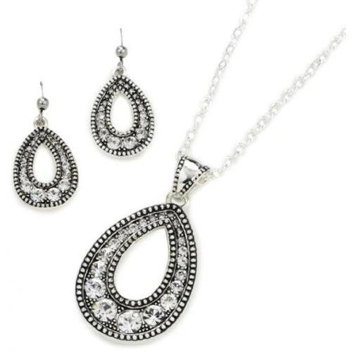 Western Edge Teardrop Jewelry Set TBJS1042CZ