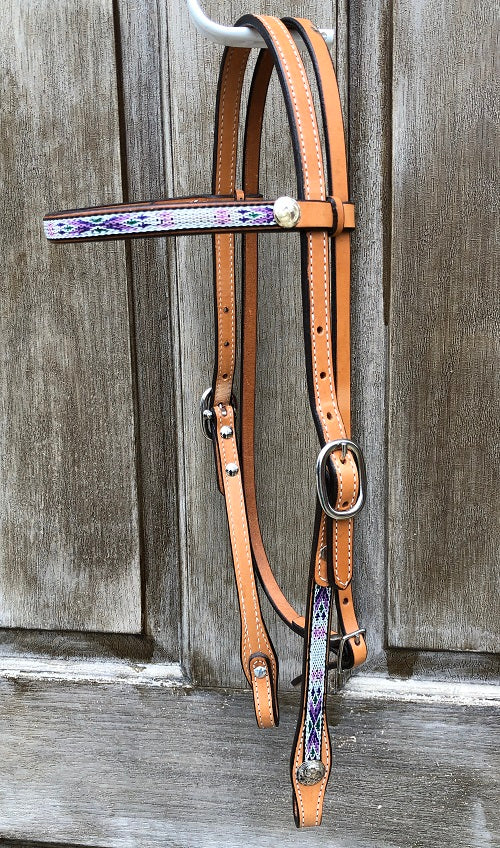 Tex Tan Aztec Overlay Browband Headstall