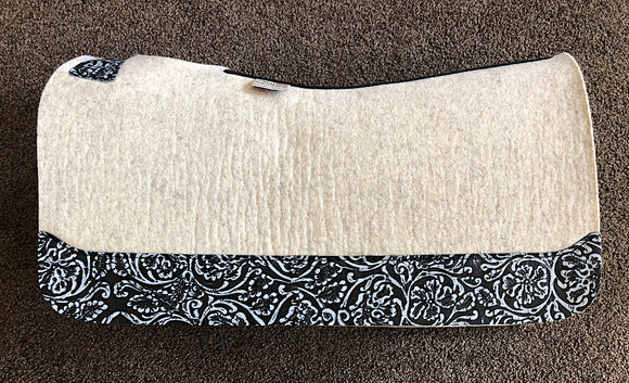 5 Star Saddle Pad Natural 7/8 inch Grey Cowboy Tool FL 30x28