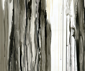 "DRIPS IN BLACK ""D"" GICLÉE PRINT ON CANVAS"