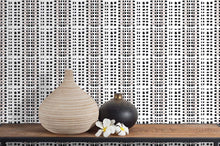 Load image into Gallery viewer, STONE TEXTILE BASKETWEAVE IN NATURAL + BLACK