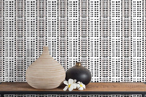 STONE TEXTILE BASKETWEAVE IN NATURAL + BLACK