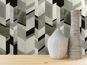ABSTRACT CHEVRON IN GRAY