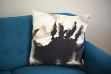 Load image into Gallery viewer, Black and Grey Watercolor Pillow