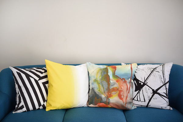 Combustion Watercolor Pillow
