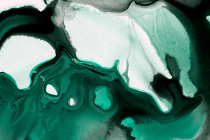 DEEP EMERALD WATERCOLOR GICLÉE PRINT ON CANVAS