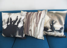 Load image into Gallery viewer, Muted Drips Watercolor Pillow