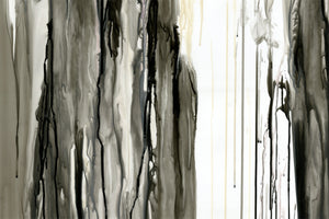 "Drips in Black ""D"" Giclee Fine Art Print"