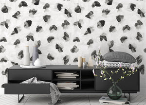STONE TEXTILE MODERN FLORAL IN BLACK & WHITE
