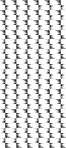 STONE TEXTILE FRINGE CHECK IN BLACK ON WHITE