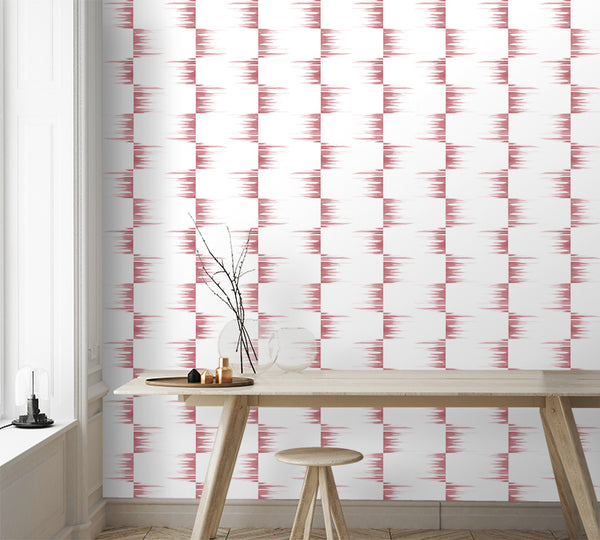 Stone Collection Fringe Check in Rose