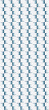 STONE TEXTILE FRINGE CHECK IN TEAL ON WHITE