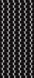 STONE TEXTILE FRINGE CHECK IN WHITE ON BLACK