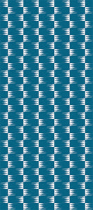 STONE TEXTILE FRINGE CHECK IN WHITE ON TEAL