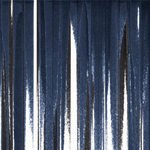 Load image into Gallery viewer, STONE TEXTILE FRINGE PRINT IN NAVY + BLACK