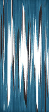 Load image into Gallery viewer, STONE TEXTILE FRINGE PRINT IN TEAL + BLACK