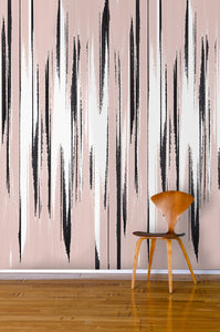 STONE TEXTILE FRINGE PRINT IN BLUSH + BLACK
