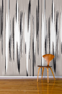 STONE TEXTILE FRINGE PRINT IN NATURAL + BLACK