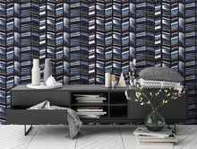 Load image into Gallery viewer, STONE TEXTILE HERRINGBONE IN NAVY + BLACK