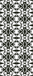STONE TEXTILE MOSAIC IN BLACK