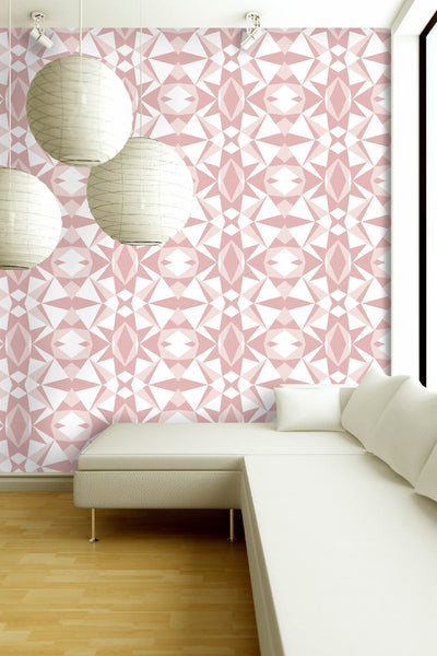Stone Collection Mosaic Print in Rose