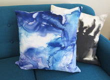 Load image into Gallery viewer, Purple and Blue Dance Watercolor Pillow