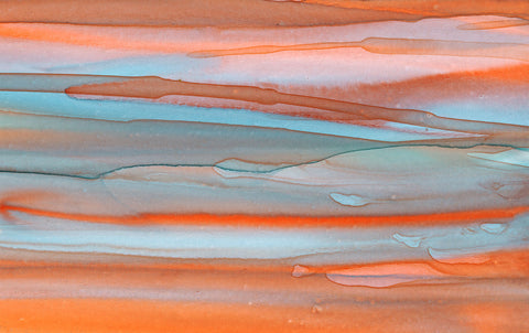 Beach Coral Drips Giclee Print on Canvas