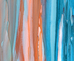 "Beach Drips ""C"" Diptych Giclee Print on Canvas"