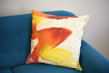 Load image into Gallery viewer, Red and Yellow Watercolor Pillow