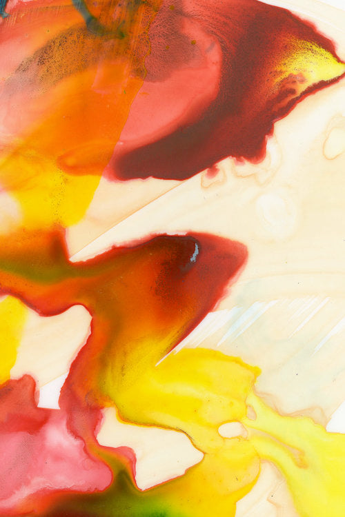 RED & YELLOW WATERCOLOR GICLÉE FINE ART PRINT