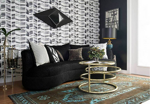 STONE TEXTILE HERRINGBONE IN BLACK