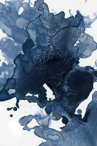 Splatter Watercolor in Midnight Giclee Fine Art Print