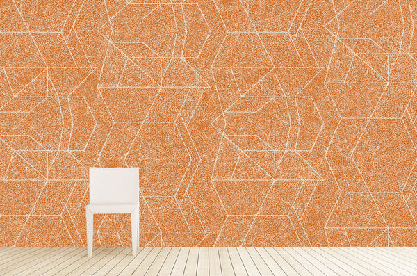 Cuffhome Geometric Crackle in Persimmon