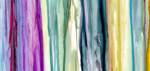 "Colorful Drips ""C"" Giclee Print on Canvas"