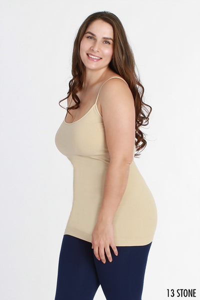 Basic Long Seamless Tanks - Plus Size