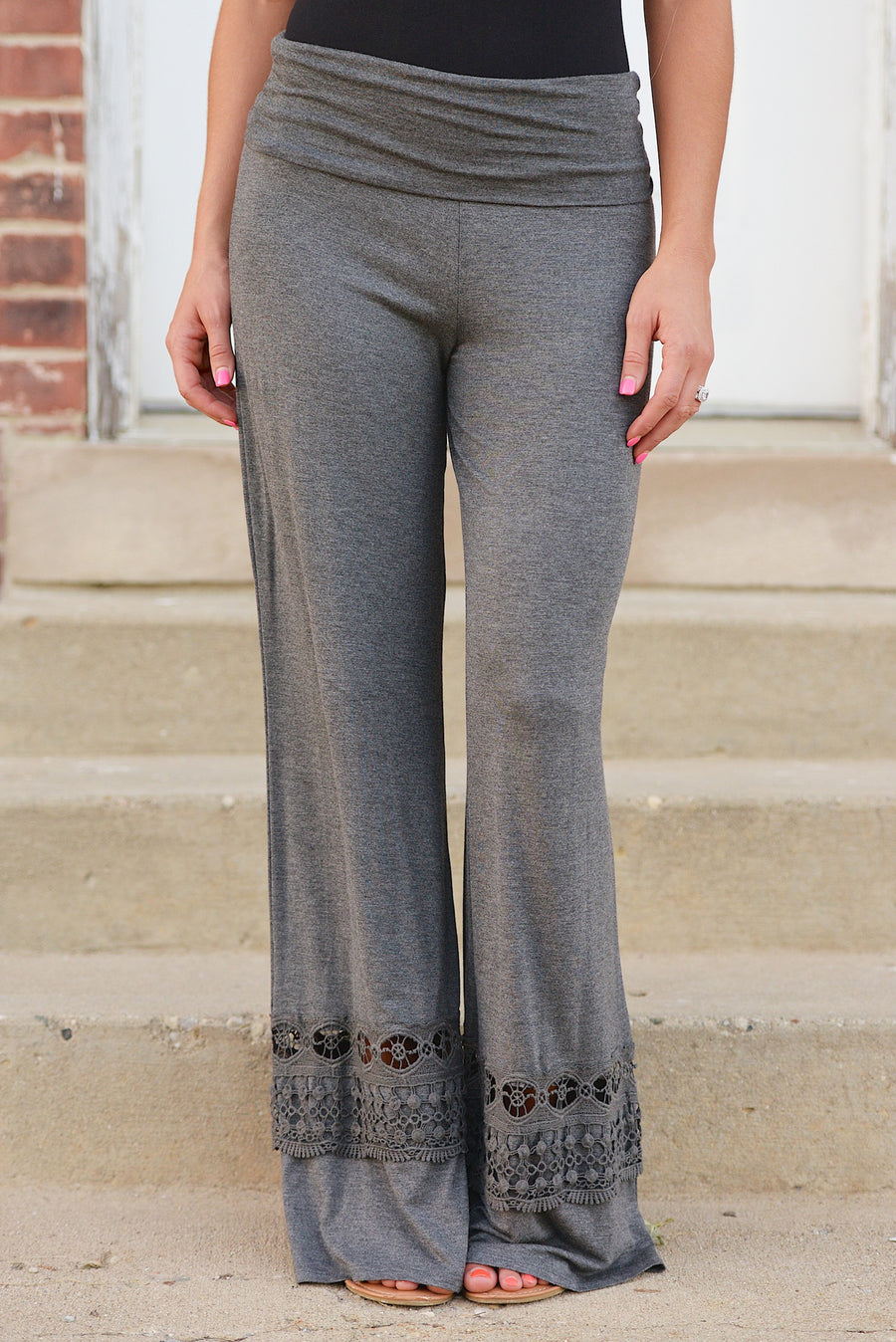 A Whole New World Palazzo Pants - crochet palazzo lounge pants, Closet Candy Boutique