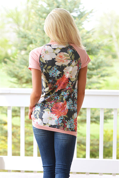 Beautiful Bouquet Top - Coral