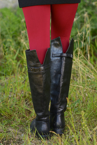 Rider Boots - Cute black riding boots, back view, Closet Candy Boutique