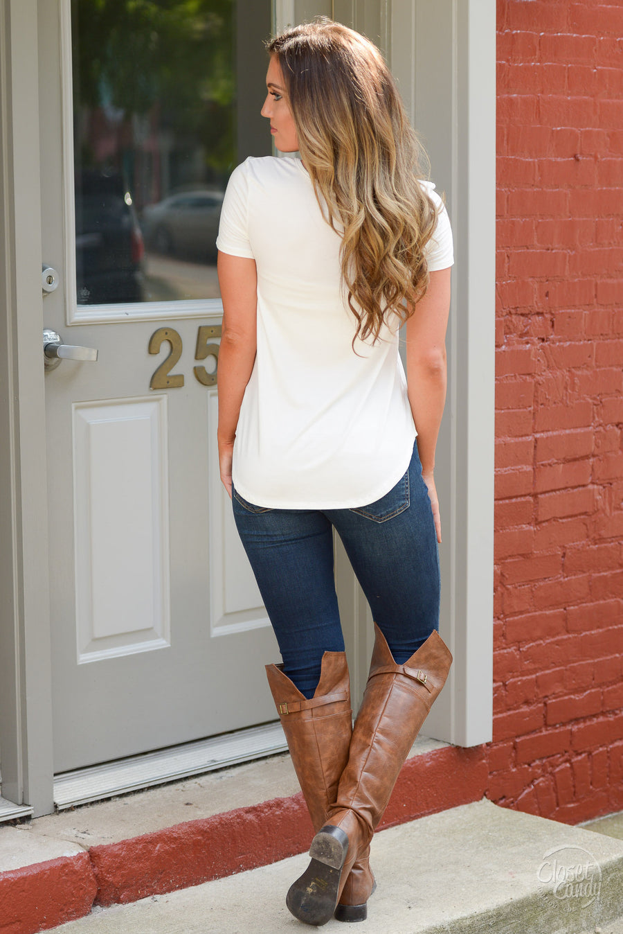 Blaze the Way Top - Ivory - Trendy and fashionable Top by Closet Candy Boutique