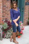 Calling the Shots Top - v-neck criss cross top, fall outfit, side, Closet Candy Boutique